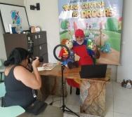 Fotos para a matéria do jornal A Tribuna - Domingo 19/04 - Contadores de Histórias Conectados.