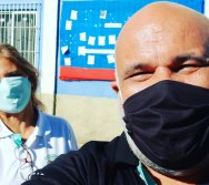 ENTREGA DOS KITS NTV NA ESCOLA JOSÉ ZACCHI - FLEXAL/CARIACICA.