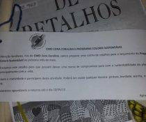 CURSO DE APRIMORAMENTO DE PROFESSORES - CMEI CORA CORALINA - ATIVIDADE COLCHA DE RETALHOS