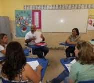 Reunião de adesão ao Projeto NA TRILHA DOS VALORES da EMEF ANTÔNIO VIEIRA DE REZENDE - SERRA