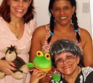 Vovó Zinha e suas netinhas sapecas! Apresentação no Curso Contando Histórias Colorindo Vidas!