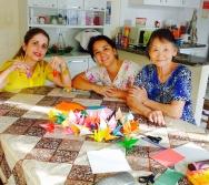 Equipe do Colorir participa de Oficina com Dona Shirasse, nossa voluntária.